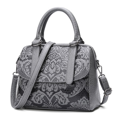 Designer High Quality Handbag Pu Bags Handbags Women Famous Brands Chinese Style Shoulder Bag With Flower Small Tote For Girl - Byrne Berlin