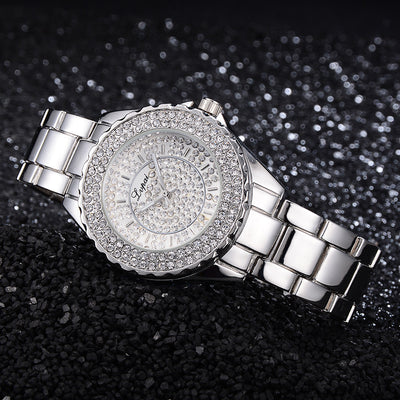 RUE DE LUXE' Crystal Collection Three - Quartz Crystal Dressy Women's Watch - Byrne Berlin