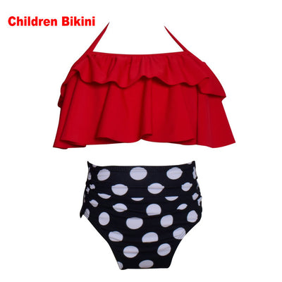 CORALE High Waist Ruffled Flounce Mommy and Me Swimsuits - Byrne Berlin