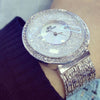 DYNASTY MOON Rhinestone Luxury Hidden Clasp Dress Women's Watch