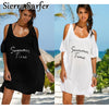SIERRA Cute Cold Shoulder White or Black Women's Swimwear Cover Up - Byrne Berlin