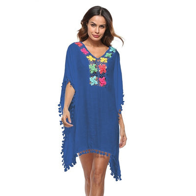 BAYE Loose Tassled Caftan Women's Swimwear Cover Up - Byrne Berlin