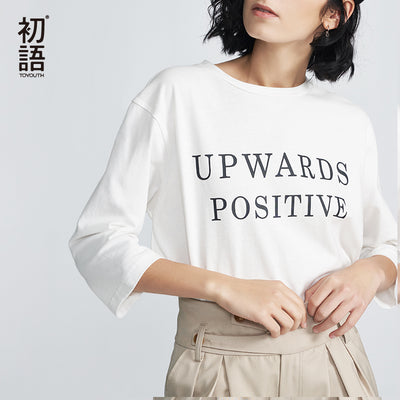 UPWARDS POSITIVE Women's 3/4 Length Sleeve T-Shirt 2018 Fresh Finds - Byrne Berlin
