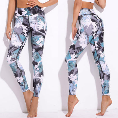 PAGODA Floral Sport Workout Leggings for Women - Byrne Berlin