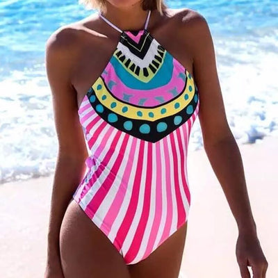 SUN PALACE Halter Neck One Piece Women's Swimsuit - Byrne Berlin