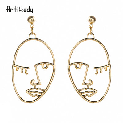 ARTSY LADY Wink Face Dangle Women's Earrings 2018 Fresh Finds - Byrne Berlin