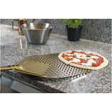 Aluminum perforated round Gold pizza peel