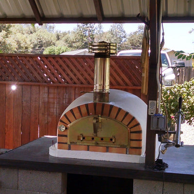 Authentic Pizza Ovens Chimney Pipe Cap Wood Fired Pizza Exhaust Firewalker Ovens