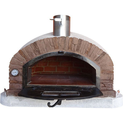 Authentic Pizza Ovens - Buena Ventura Premium Red Brick Wood-Fired Pizza Oven Firewalker Ovens