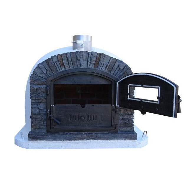 Authentic Pizza Ovens - Ventura Premium Black Wood-Fired Pizza Oven Firewalker Ovens