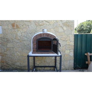 Authentic Pizza Ovens - Ventura Premium Red Brick Wood-Fired Pizza Oven Firewalker Ovens