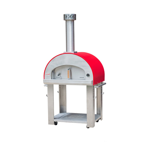 Forno Bravo Bella Outdoor Living Grande 32 Wood Fired Pizza Oven with Cart - Firewalker Ovens