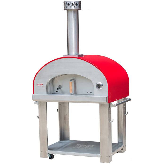 Forno Bravo Bella Outdoor Living Grande 36 Wood Fired Pizza Oven with Cart - Firewalker Ovens