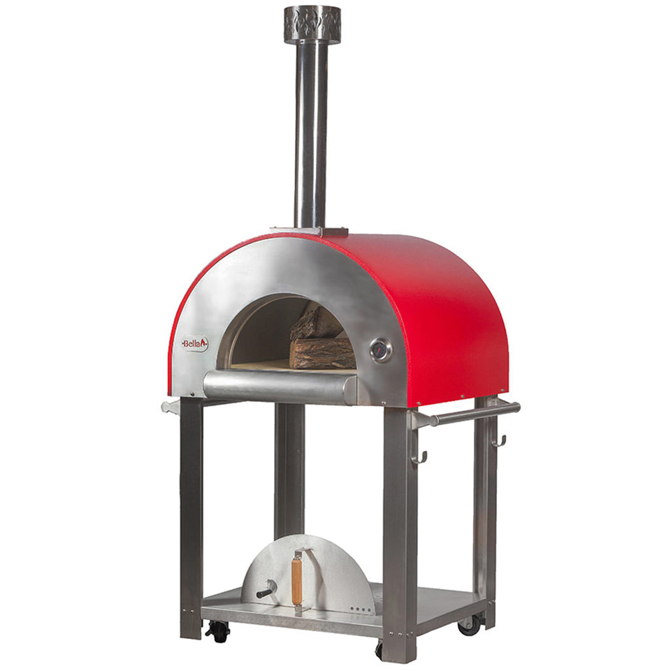 Forno Bravo Bella Outdoor Living Medio 28 Wood Fired Pizza Oven with Cart - Firewalker Ovens