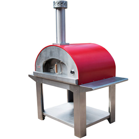 Forno Bravo Bella Outdoor Living Ultra Wood 40 Fired Pizza Oven with Cart - Firewalker Ovens