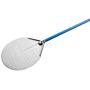 Round Aluminum Perforated Pizza Peel - Azzurra Line