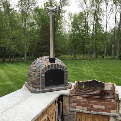 Authentic Pizza Ovens Chimney Pipe Extension Wood Fired