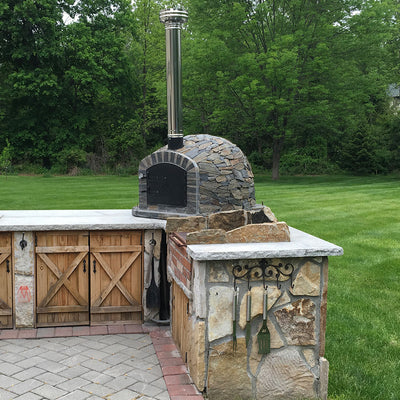 Authentic Pizza Ovens Chimney Pipe Extension - Wood-Fired Pizza