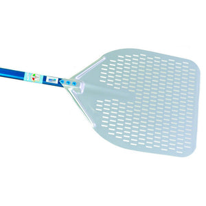 Perforated Aluminum Pizza Peel, Rectangular - Firewalker Ovens