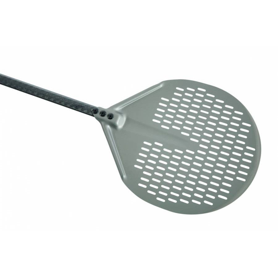 round pizza peel with aluminum head and carbon fiber handle
