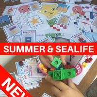 NEW! Summer & Sealife - Let's Use Cubes