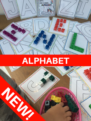 NEW! Alphabet - Let's Use Cubes
