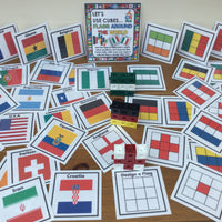 NEW! World Flags - Let's Use Cubes - PARENT PACK