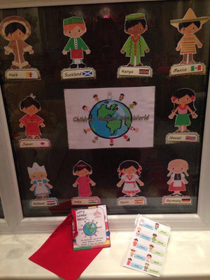 Children Around the World - Multicultural Display