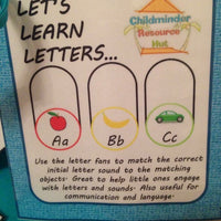 Let's Learn Letters - Activity Bag