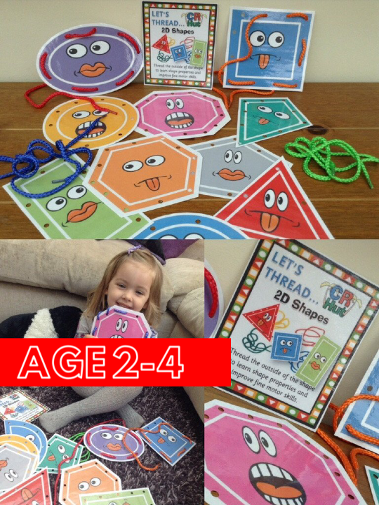 2D Shapes - Threading - PARENT PACK