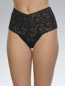 Retro Lace HIgh-Waisted Thong
