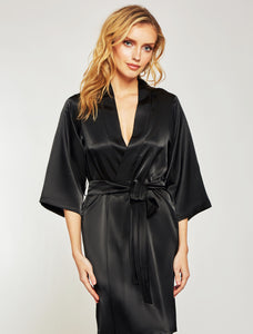 Satin Marina Short Robe