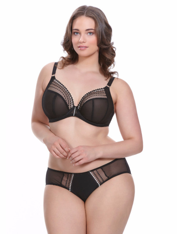 Matilda Plunge Underwire Bra in Black