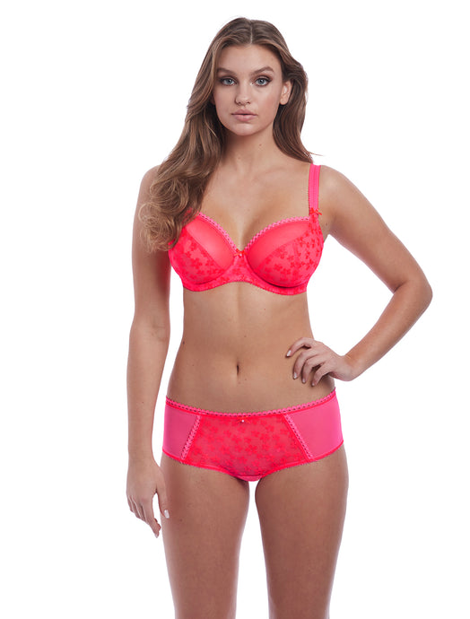 Unchained Underwire Plunge Balcony Bra in Pop