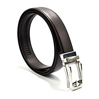 Men's Leather Holeless Ratchet Belt by Morbidoso Micro Adjustable Click Belt Fits Up To 48 Inches - MyLittleStuff