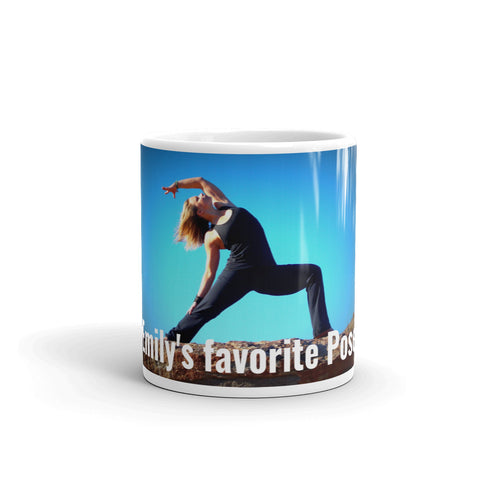 Best Yoga Gifts for the Coffee Lovers. Customize your cups with favorite yoga poses and text - MyLittleStuff