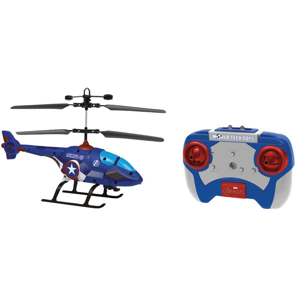 World Tech Toys 2-channel Marvel Ir Helicopter With Led Lights (captain America) - Shazam Toys