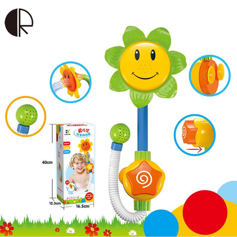 Baby Bath Toys Children Gift Sunflower Shower Faucet Bathing Learning Toy Pool Swimming Water Spraying Tool Free Shipping HT3534