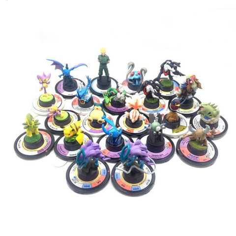 6cm 50PCS 50 Unids Pokemon GO Action Japanese Anime Pocket Monsters Pikachu Action Figure Toys Juguete PVC Model Brinquedos 0504