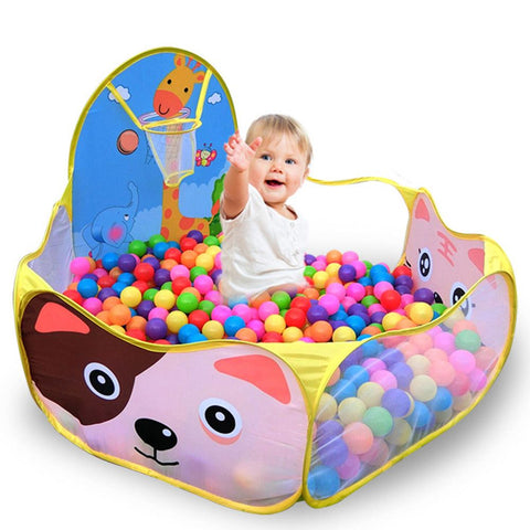 50pcs 6cm balls+1.2M Baby Playpens For Children's Foldable Kids Ball Pool Outdoor/Indoor Game Tent Activity Toy Fencing