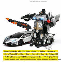 4 Models 1:14 Stringer 2.4G Infra-red Smart Remote Control Robot Toys Car Transform Action Figures Robot Toy remote smart toys - Shazam Toys