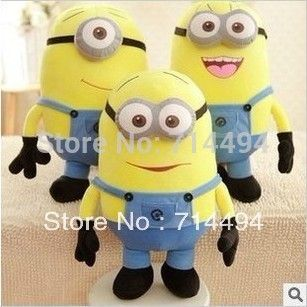 Despicable ME Minions Toy 3D eye Jorge Stewart Dave with tags baby soft toys plush toy children