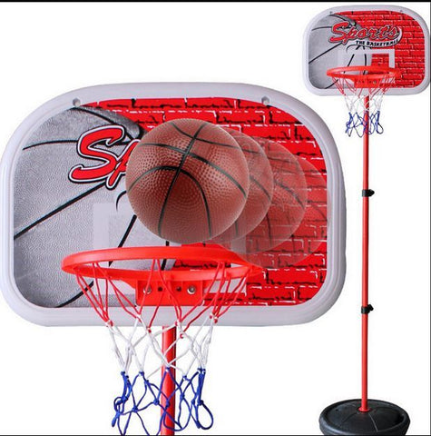 Outdoor Fun & Sports Activity Game Mini Indoor Adjustable Basketball Stand Basket Holder Hoop Goal Child Kids Boys Toys Sport