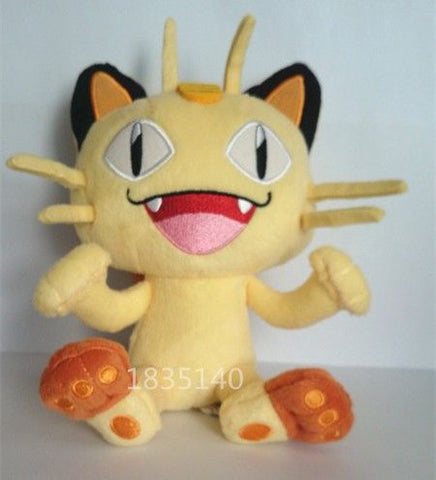 The latest design Tomy Pokemon Small Plush Meowth,Quality goods Soft Stuffed Plush Toy
