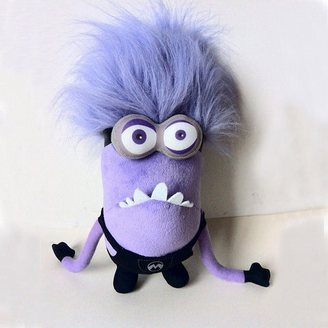 1 eye 2 eyes Small Purple People Despicable Me Daddy Purple Minions Plush Toys Purple Minion Toy Birthday Gift