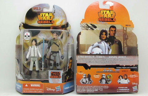 New 1pc STAR WARS REBELS MISSION Action Figure MS18 Ezra Bridger (Cadet) & Kanan Jarrus