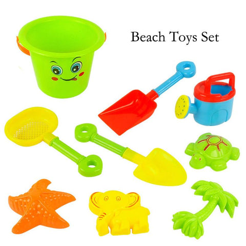 New large beach bucket 9pcs/set of toys to play with sand dredging and beach toys children's educational tools