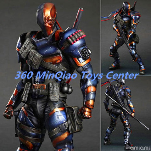 SQUARE ENIX Play Arts KAI DC Comics Batman: Arkham Origins Deathstroke PVC Action Figure Collectible Toy 27cm RETAIL BOX WU726