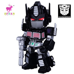 UEKKO anime figure toy  Transformation black Q version Optimus  light-emitting action Model For Collection / Gift Original Box - Shazam Toys