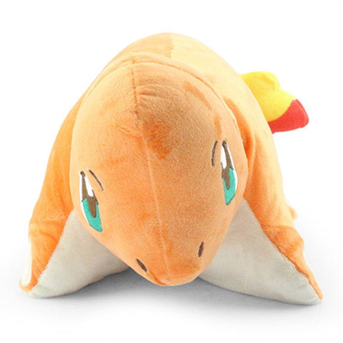 Wholesale Japan Anime Cartoon Pokemon Charmander Pillow Soft Plush Doll Fold Pillow Cushion Hot Sale